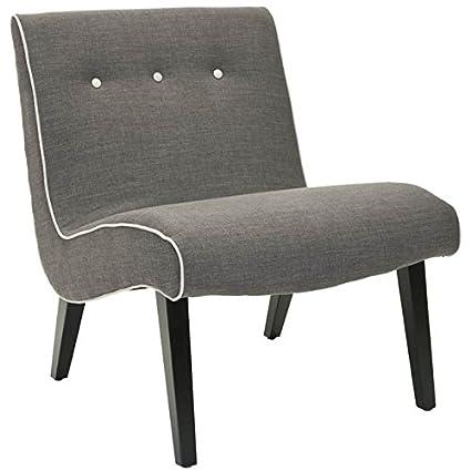 Safavieh Mercer Collection Owen Mid Century Modern Charcoal Lounge Chair