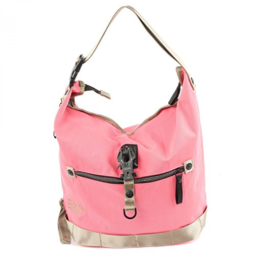 Gina amp; George Challenge Borsa Roots pink Nylon hobo Lucy Small df5Tx54qOw