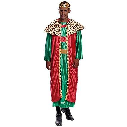 Disfraz Rey Mago Baltasar hombre adulto para Navidad S ...