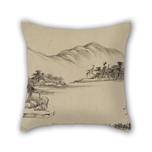 - The Oil Painting Wang Yuanqi (Wang Yuan-ch'i) - Free Spirits Among Streams And Mountains Pillow Cases Of 20 X 20 Inches / 50 By 50 Cm Decoration Gift For Adults Son Living Room Gril Friend Bedroom