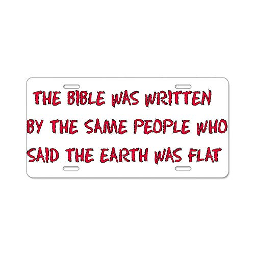AhuiA-Flat Earth Bible Thumpers Gifts Custom Personalized Aluminum Metal Novelty License Plate Cover Front Auto Car Accessories Vanity Tag- 6x12 ()