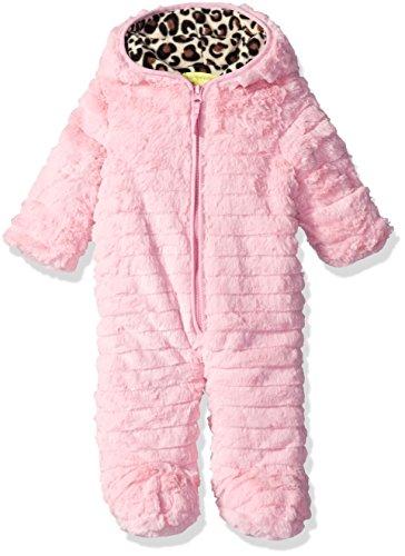 Catherine Malandrino Baby Girls' Faux Fur Pram, Pink, 6-9 Months