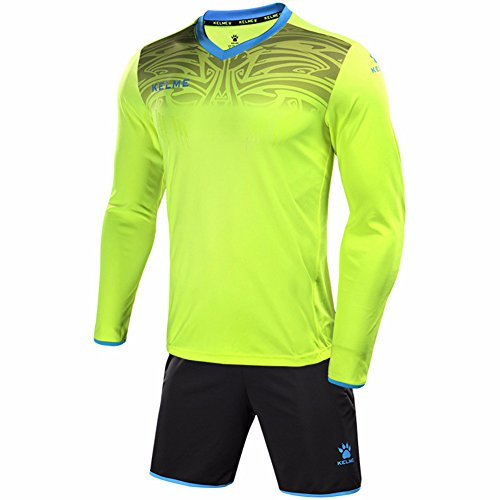 Jersey Long Sleeve Suit - Kelme Men's Goalkeeper Long Sleeves Jersey & Shorts Youth Suit (Large, Yellow)