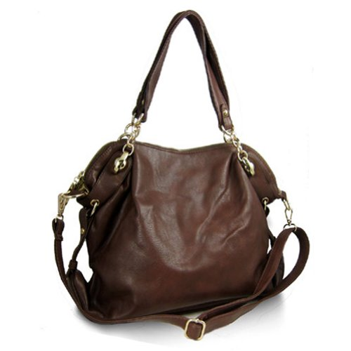 Large Slouchy Hobo Handbag (Brown), Bags Central