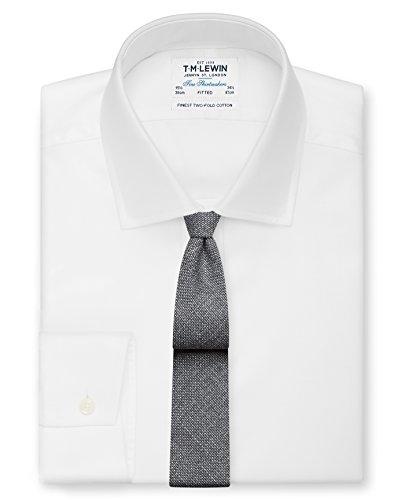 Charcoal Tie Lewin Blend T Barberis Men's Wool M Italian Slim aC7Iq6w