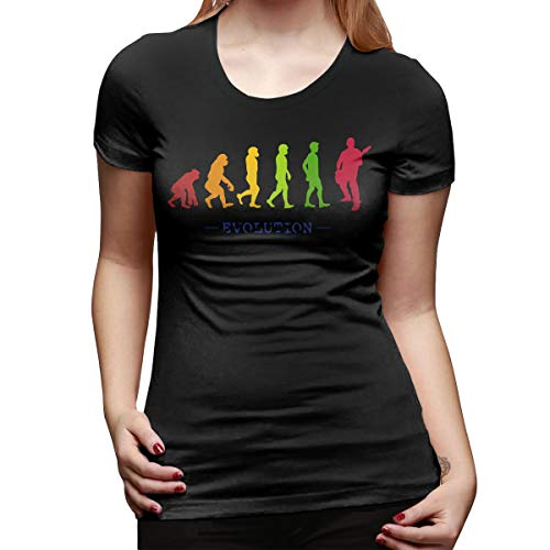 Burton Edith Guitar Player Evolution Guitarist Musician Women's Short Sleeve T Shirt Color Black Size 32