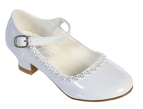 First Communion Shoes White - iGirlDress Charming Mary Jane Party Shoes