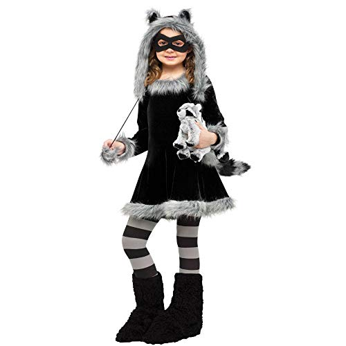 Fun World Sweet Raccoon Costume, Large 12 - 14, Black for sale  Delivered anywhere in USA