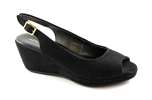 AEROSOLES BIENVENIDA zapatos negros mujer sandalias para caminar comodidad Nero
