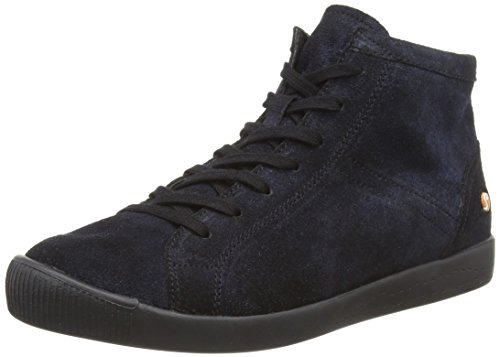Washed Washed Washed Alto Blue a Sneaker Blu 062 Donna Isleen Softinos Collo Sq6XxW5Cw