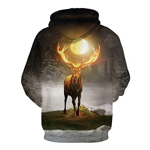 Blouse l Solike Couple Pull 3D Capuche Sweatshirt Outwear Chaud Manches Hiver Automne Manteau No de Homme Sweats Tops Multicolore Longues Femme Imprim Costume Chemise nURaw0qpY