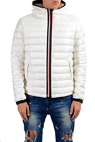 Moncler Men's MORVAN White Down Hooded Parka Jacket Moncler Sz 3 US M