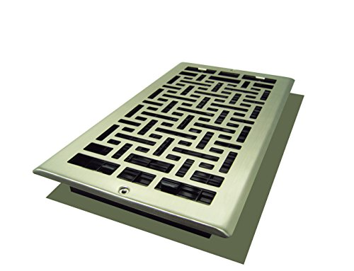 Decor Grates AJL612W-NKL Oriental Wall Register, 6-Inch by 12-Inch, Nickel