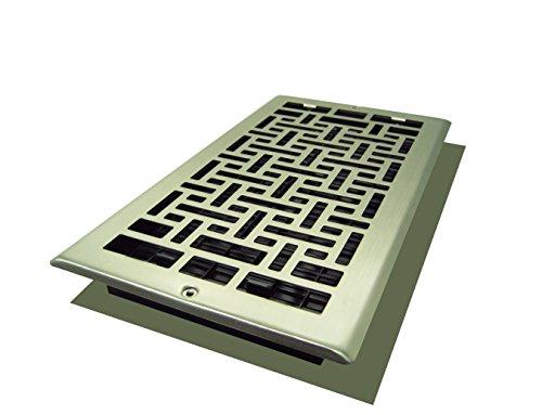 Decor Grates AJL612W-NKL Oriental Wall Register, 6-Inch by 12-Inch, Nickel (Decor Grates)