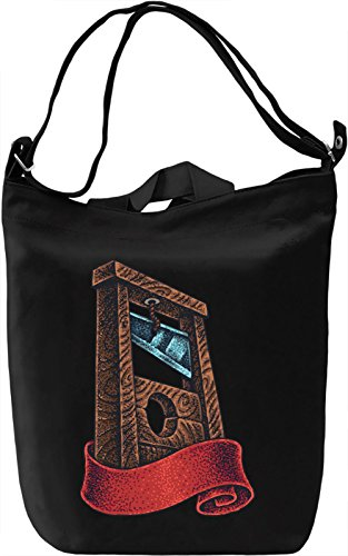 Guillotine Borsa Giornaliera Canvas Canvas Day Bag| 100% Premium Cotton Canvas| DTG Printing|