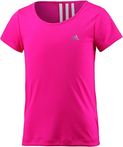 adidas Mädchen Techfit Gear Up T-Shirt, Shock Pink/White, 140