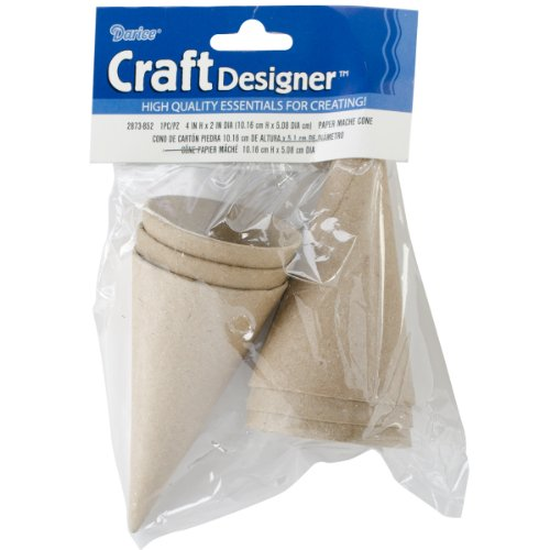 Paper Mache Cone inches pieces