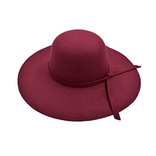Women's Premium Felt Wide Brim Floppy Hat, - Wide Hat Brim Felt