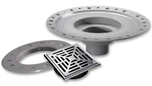 LATICRETE HYDRO BAN BONDING FLANGE DRAIN 5'' POLISHED STEEL ABS by Laticrete