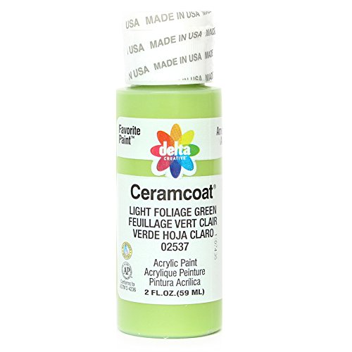 Delta Creative 02537 Ceramcoat Acrylic Paint, 2-Ounce, Light Foliage Green ()