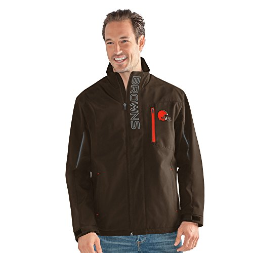 Cleveland Browns Soft Football - G-III Sports NFL Cleveland Browns Adult Men Energy Soft Shell Full Zip Jacket, Large, Brown
