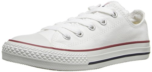 Converse Kid's Chuck Taylor All Star Low Top Shoe, optical white, 13 M US Little Kid