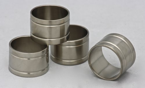 Colonial Lacquered Polished Brass - Brass & Silver Traditions Pewter Napkin Rings