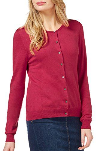 WuhouPro Womens Crew Neck Button Down Long Sleeve Knit Cardigan Sweater AZ 1101 Red XL by WuhouPro