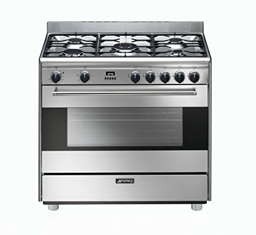 Smeg S9GMXU 36' Free-Standing Dual Fuel Range with 5 Sealed Burners, Stainless Steel Pacific Specialty Brands - Drop Ship