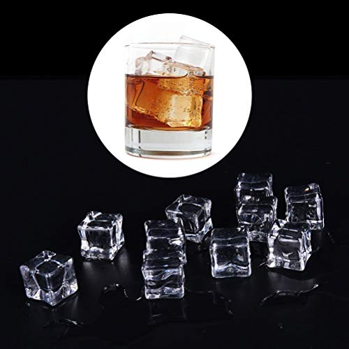 Display Cube - 2cm 2.5cm 3cm Decor Artificial Ice Cubes 10pcs Acrylic Clear Square Fake Crystal Home Display - White Pedestal Shelf Statues Baseball Case Cubes Tower Small Black Cube Base Disp