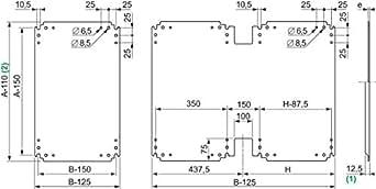 Schneider Electric NSYPMM55 Placa de Montaje Metálica para Armario PLA, Al 500 x An 500 mm