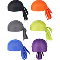 Chuangdi 6 Pieces Sweat Wicking Beanie Cap Hat Skull Cap, Pirate Hats