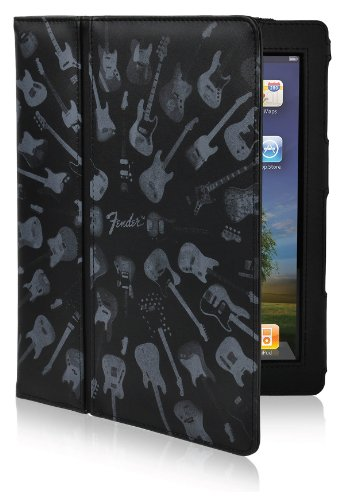 Hal Leonard Fender Protective Folder Army Folio for iPad 2/3 - Black Guitar (30270) (Contour Design Folio)