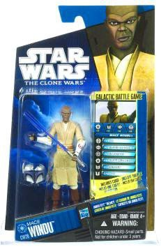 Star Wars: Clone Wars 2010 CW20 Mace Windu 3.75 inch Action Figure
