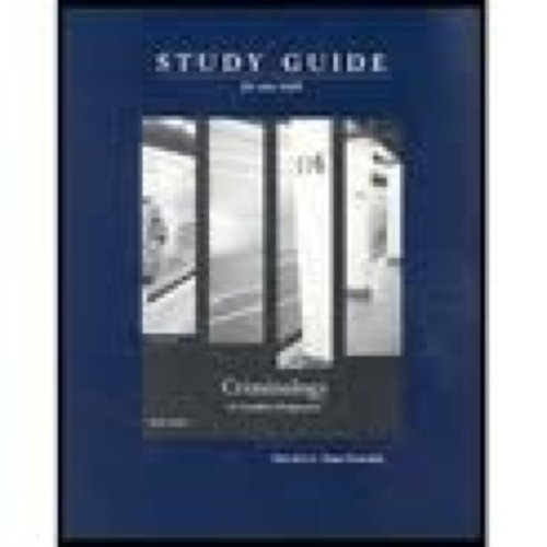 Criminology: A Canadian Perspective - Study Guide (Canadian)
