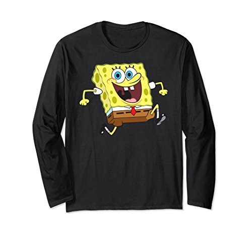 Unisex Nickelodeon SpongeBob reversible Long Sleeve T-shirt Large (Spongebob Ladies Tee)