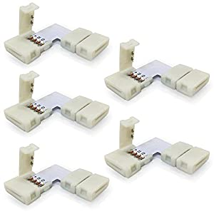 5pcs Pack 10mm L Shape 4 Conductor Quick Splitter Right