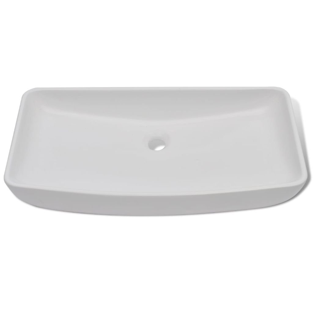 Luxury Bathroom Sink Ceramic Basin Rectangular Sink White Wash Basin Size 28'' x 15'' Practical Vessel for Everyday Use by Chloe Rossetti (Image #3)