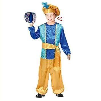 Partilandia Disfraz PAJE Azul para niño Navidad 2-4 años