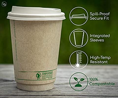 100% Biodegradable Molded Eco Friendly Disposable Coffee Cup