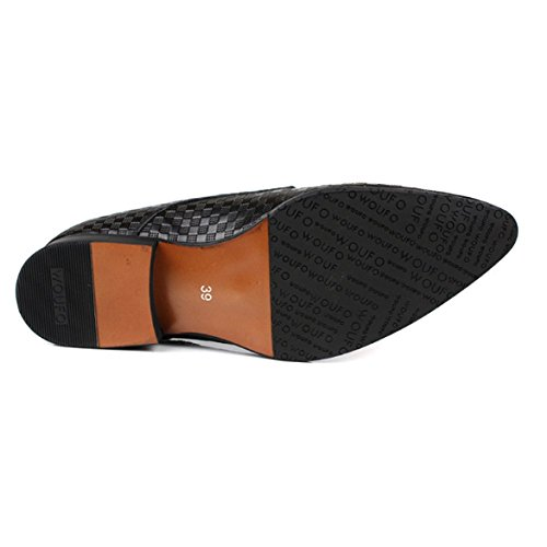 A Scarpe in da Punta Scarpe Scarpe Traspirante Comodo Casuale Elegante Uomo Stringate Pelle Black NTUMT 7xzwqdASS