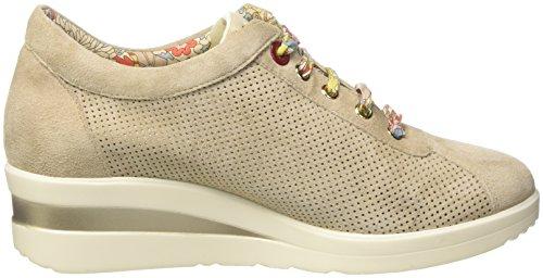 Sneaker Basso Beige R20110 Corda Donna MELLUSO a Collo wOxqWBBz5