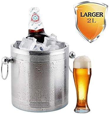 CJVJKN Cubo de Hielo, Cubo de Hielo 2L Enfriador de Bebidas de ...