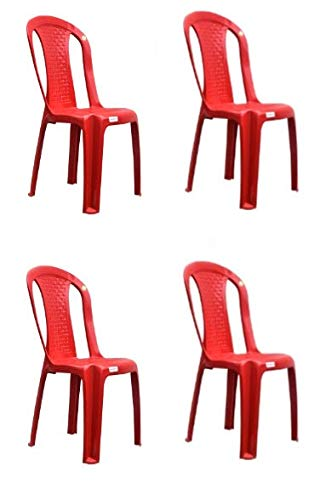Varmora Without Arm Chair,Netted Dine Pack of 4