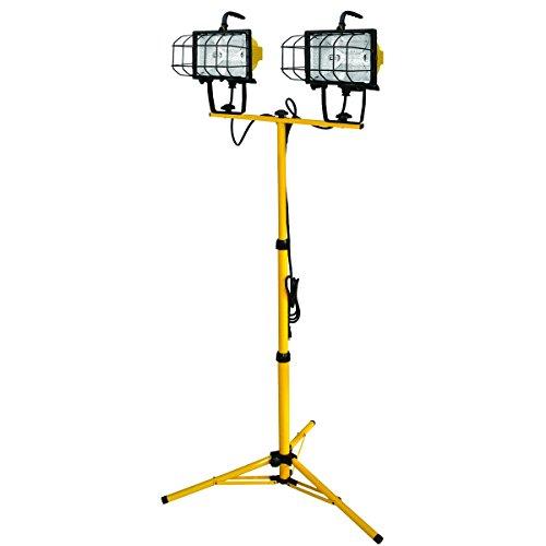 Voltec 08-00211 1000-Watt Halogen Tripod Worklight, 6-Foot, Yellow & ()
