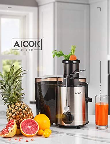 Centrifuga Frutta e Verdura Aicok Estrattore di Succo a Freddo con 65MM Bocca, Piedi Anti-scivolosi e Facile Pulizia… 7