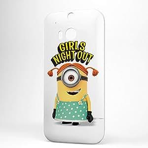 Minion HTC One M8 3D wrap around Case - Girls Night out