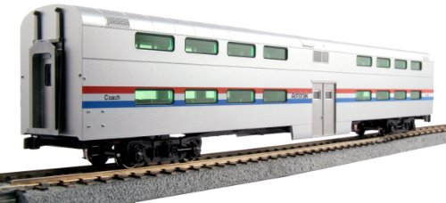 Kato USA Model Train Products Pullman Amtrak Phase III Bi-Level 4-Window Coach