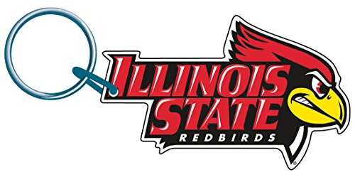WinCraft Illinois State Redbirds Premium Acrylic Key Ring/Zipper Pull, 2.5 x 1.75 inches