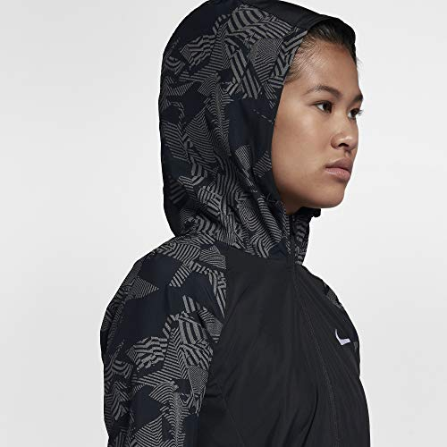 Nike Damen Laufjacke Essential Flash Reflective, schwarz